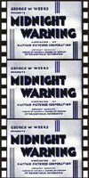Forgotten Horrors MIDNIGHT WARNING, THE