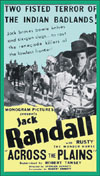Westerns JACK RANDALL:  ACROSS THE PLAINS