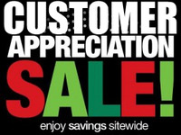 Current Sales $ CUSTOMER APPRECIATION SALE $